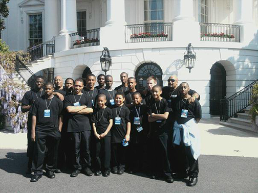 Isiserettes Drum line in Front of The White House @ 2011 Easter Egg Roll